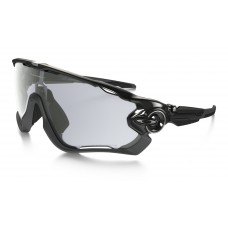 GAFA OAKLEY JAWBREAKER POLISHED BLACK w/ CLEAR BLACK IRIDIUM PHOTOCHROMIC (9290-14)