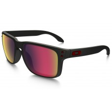 GAFA OAKLEY HOLBROOK MATTE BLACK / +RED IRIDIUM (9102-36)