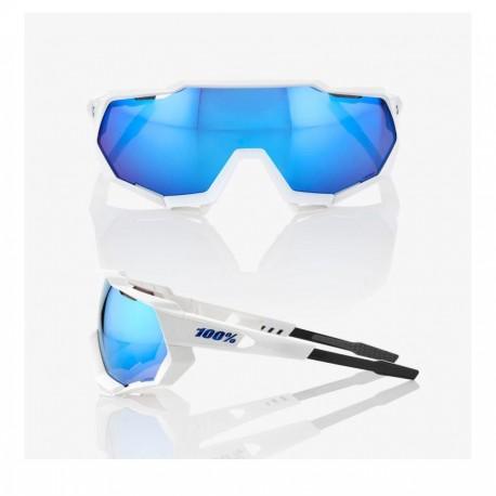 GAFA 100% SPEEDTRAP MATTE WHITE / HIPER BLUE MULTILAYER (61023-000-75)