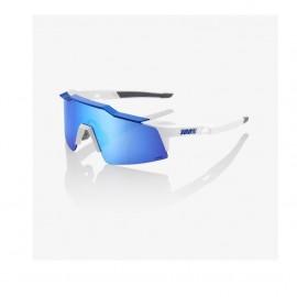 GAFA 100% SPEEDCRAFT SL MATTE WHITE / METALLIC HIPER BLUE ML MIRROR LENS (61002-022-75)