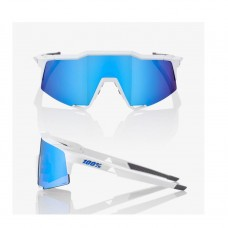 GAFA 100% SPEEDCRAFT MATTE WHITE / HIPER BLUE ML MIRROR LENS (61001-000-75)