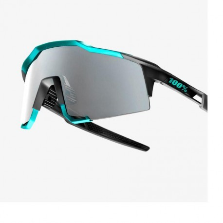 GAFA 100% SPEEDCRAFT SOFT TACT CELESTE GREEN / CEMENT GREY BLACK MIRROR LENS (61001-256-61)