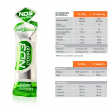 GEL ENERGETICO INFISPORT CROSS UP SABOR CITRICO
