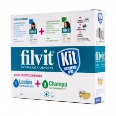 FILVIT KIT TRATAMIENTO TOTAL PROMO (LOCIÓN Y CHAMPÚ) + HOGAR