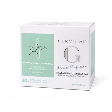 GERMINAL ACCION PROFUNDA TRATAMIENTO ANTIAGING 30 AMPOLLAS X 1,5 ML
