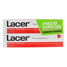 LACER PASTA ANTIPLACA/ANTICARIES DUPLO 125 ML. + 125 ML