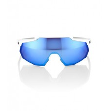 GAFA 100% RACETRAP MATTE WHITE HIPER BLUE MULTILAYER LENS (61037-000-75)
