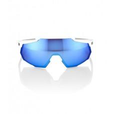 GAFA 100% RACETRAP MATTE WHITE HIPER BLUE MULTILAYER LENS (61037-000-75)